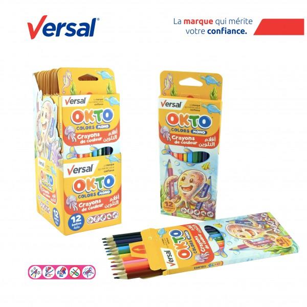 Crayon De Couleur Triangulaire 12 GM VERSAL Réf-114002