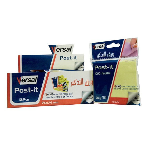 Post-It VERSAL 76X76 Réf-VR980